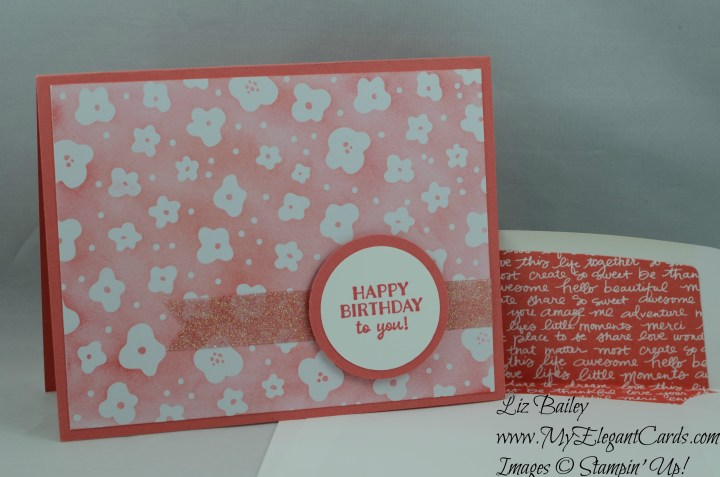 Stampin' Up! Memories in the making and Party Pants and Glimmer Tape