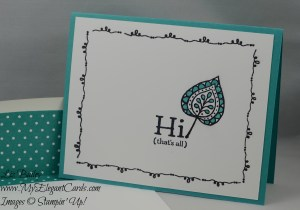 Stampin' Up! Party Pants and Lighthearted Leaves and Tin of Cards