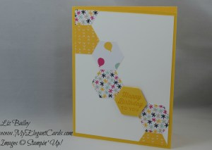 Stampin' Up! Hexagon Punch and It's My Party DSP