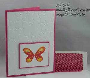 Stampin' Up! Watercolor Wings and Fluttering embossing folder