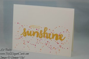 Stampin' Up! Paper Pumpkin June 2016 alternate - Banner Surprise and Sunshine Wishes and Crazy about you