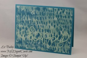 Stampin' Up! Blooms and Bliss DSP and Hello You thinlits