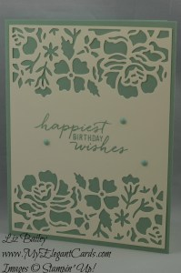 Stampin' Up! Detailed Floral thinlits dies and Watercolor Wishes