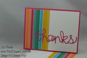 Stampin' Up! Festive Birthday DSP and Hello You thinlits
