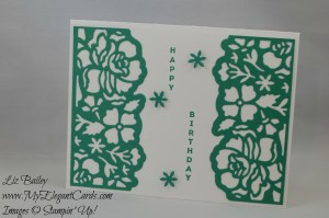 Stampin' Up! Detailed Floral Thinlits Dies and Vertical Greetings