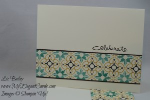 Stampin' Up! Moroccan DSP and Endless Birthday Wishes