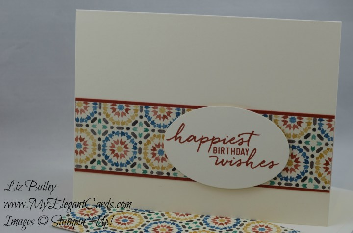 Stampin' Up! Moroccan DSP and Watercolor Wishes