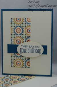 Stampin' Up! Moroccan DSP and Suite Sayings