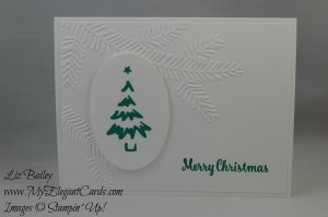 Stampin' Up! Pine Bough TIEF and Merry tags