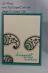 Stampin' Up! Paisleys and Posies - Watercolor Wishes