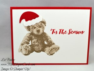Liz Bailey Stampin' Up! Demonstrator - Jolly Hat builder punch - Christmas pines - Baby Bear