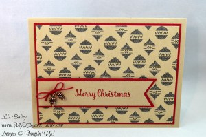 Liz Bailey Stampin' Up! Demonstrator - Warmth and Cheer DSP stack - Star of Light - Triple Banner Punch