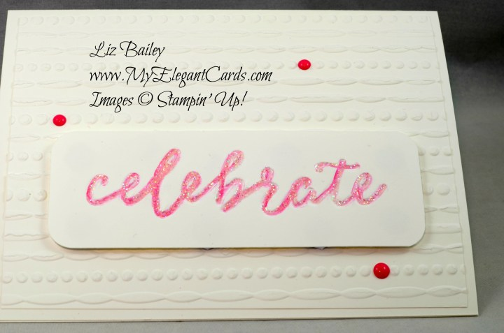 Liz Bailey Stampin' Up! Demonstrator - Celebrations Duo TIEF - Festive TIEF