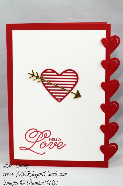 Liz Bailey Stampin' Up! Demonstrator - Love Notes Framelits Dies - Sealed with Love