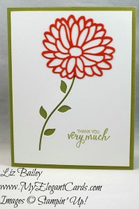 Liz Bailey Stampin' Up! Demonstrator - Stylish Stems Framelits Dies - Bunch of Blossoms
