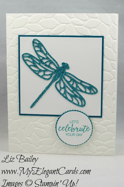 Liz Bailey Stampin' Up! Demonstrator - Detailed Dragonfly Thinlits Dies - Bunch of Blossoms - Petal Burst TIEF - Layering Circles Framelits Dies
