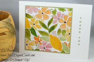 Liz Bailey Stampin' Up! Demonstrator - Fruit Stand DSP - Vertical Greetings