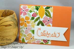 Liz Bailey Stampin' Up! Demonstrator - Love Sparkles - Fruit Stand DSP
