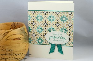 Liz Bailey Stampin' Up! Demonstrator - Moroccan Designer Series Paper - Bunch of Blossoms
