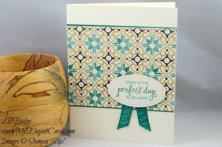 Liz Bailey Stampin' Up! Demonstrator - Moroccan Designer Series Paper - Bunch of Blossoms