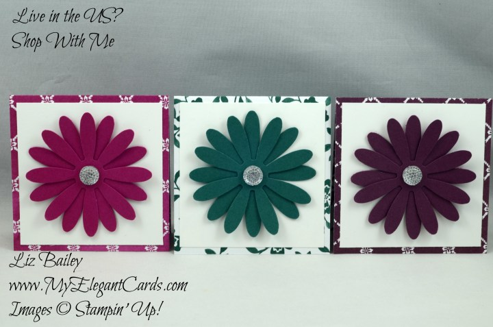 Liz Bailey Stampin' Up! Demonstrator - Daisy Punch - Fresh Florals DSP stack