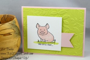 Liz Bailey Stampin' Up! Demonstrator - Layering Leaves Dynamic TIEF - This Little Piggy