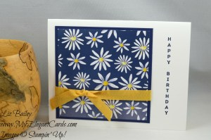 Liz Bailey Stampin' Up! Demonstrator - Vertical Greetings - Delightful Daisy DSP