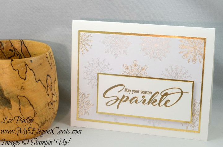 Liz Bailey Stampin' Up! Demonstrator - Add a Little Glitz - Year of Cheer Specialty DSP