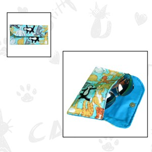 cat tricks sunglasses case