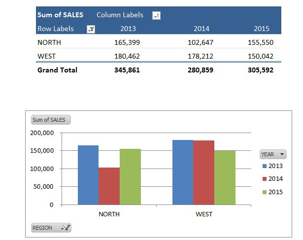 Pivot Charts  Slicers Free Microsoft Excel Tutorials