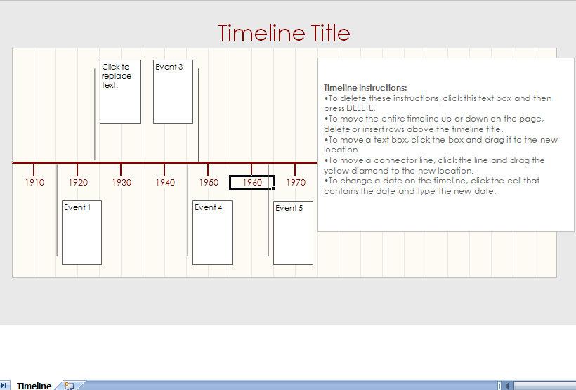 Timeline Samples in Excel lacienciadelpanico