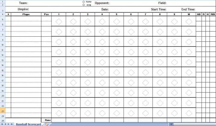 ... Template Baseball Score Sheets. SaveEnlarge