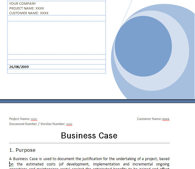 It project business case template madebyrichard beneficialholdingsinfo prince2 business case template prince2 business case flashek Images