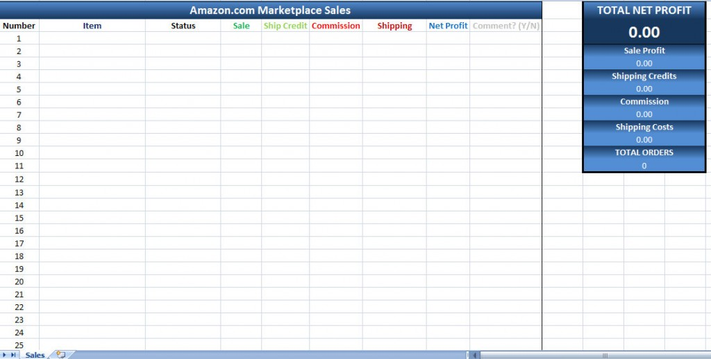 Amazon Sales Tracking Excel Template amazon marketplace sales tracking