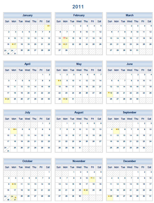 Academic Calendar Template 2011 12 | How To Make Resume Stand Out