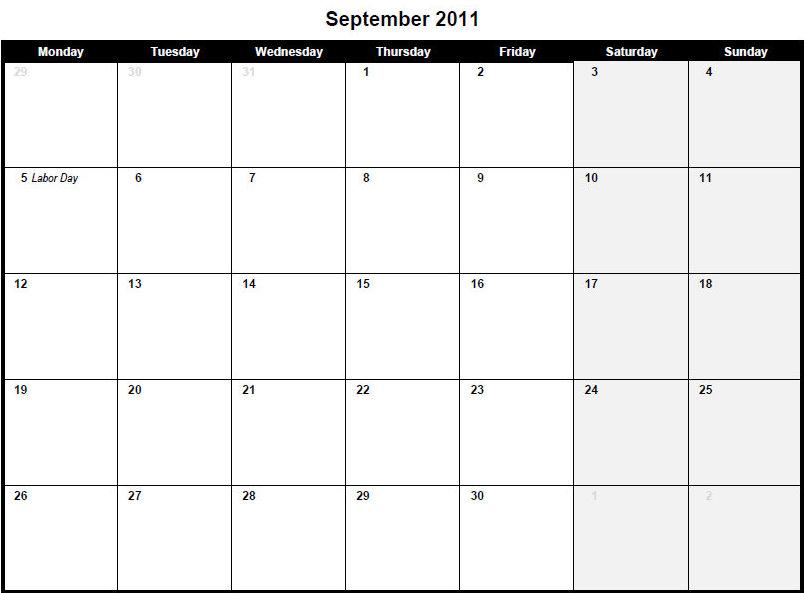 Blank Monthly Calendar Sept 2012 Archives Philly Printable Pdf February 2011 Calendar