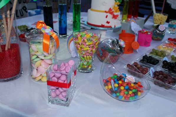 Rainbow Party Une Sweet Table Ou Un Candy Bar Sur Le