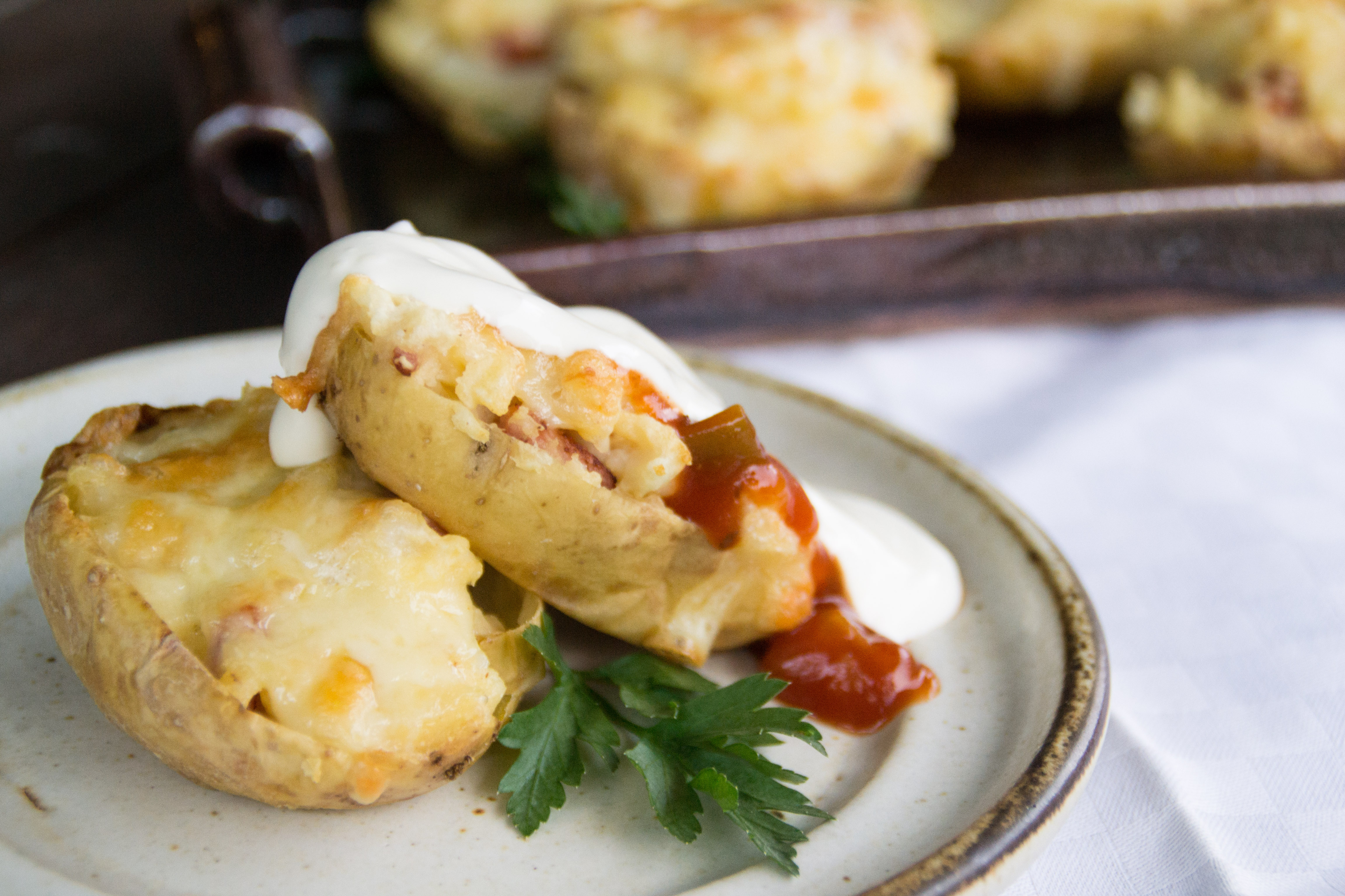 Bacon and Cheese Stuffed Potatoes