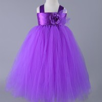 Purple Wedding Flower Girl Dresses Tulle Tutu Dress Baby ...