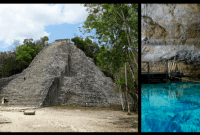 Coba: Climbing a Mayan Pyramid and Swimming in Caves in the Jungle of Mexico