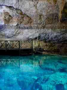 coba multun-ha cenote - platform