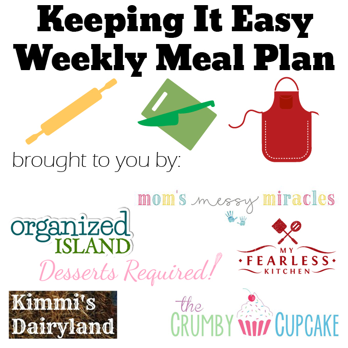 Easy Weekly Meal Plan #25 - The Shirley Journey