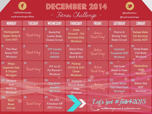 Month Calendar December 2014 2014 Calendar December Fitness Challenge Workout Calendar