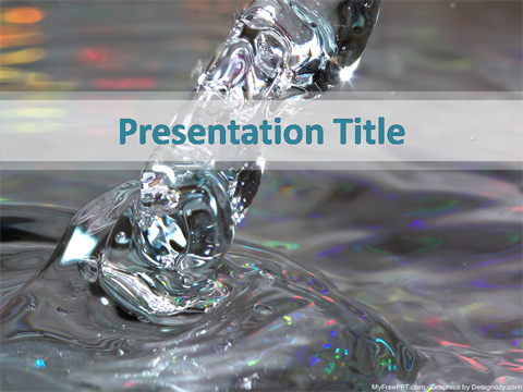 Free Save Water PowerPoint Templates - MyFreePPT
