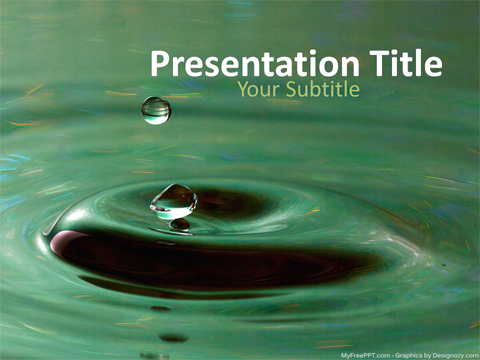 Free Save Water PowerPoint Templates - MyFreePPT - water powerpoint template