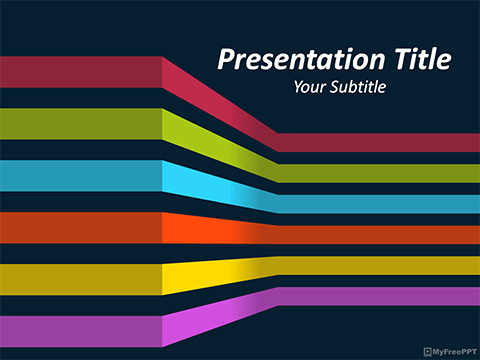Free 3d Lines PowerPoint Template - Download Free PowerPoint PPT