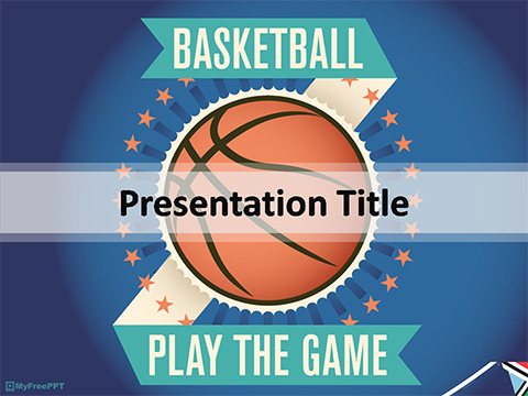 Free Competition PowerPoint Templates - MyFreePPT - basketball powerpoint template