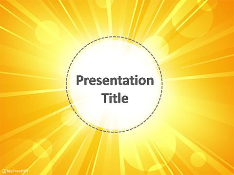 Free Sunlight PowerPoint Templates - MyFreePPT - summer powerpoint template