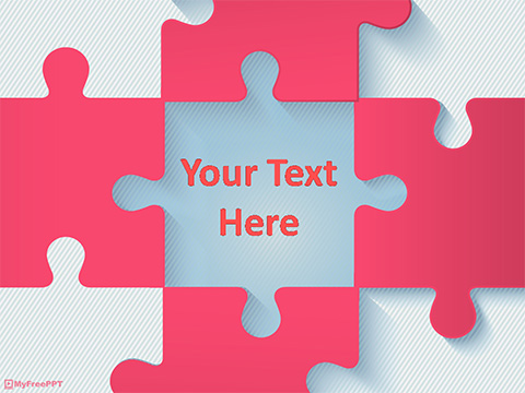 puzzle powerpoint template - Teacheng
