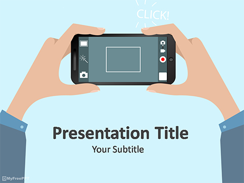 Free Mobile Photography PowerPoint Template - Download Free